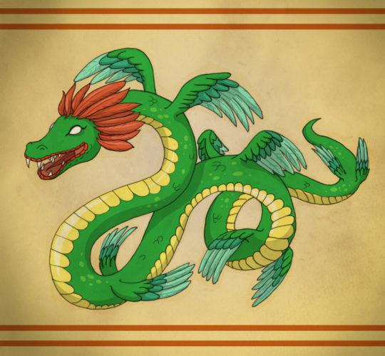 Le Serpent à plumes Quetzalcoatl