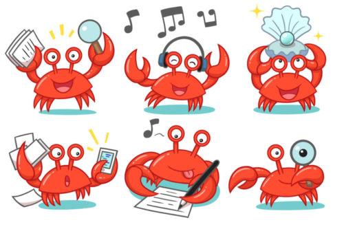 Mascotte Crabe