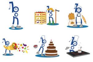 Illustrations de #BON, mascotte du festival