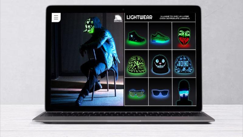 Prototype du site web avec boutique en ligne